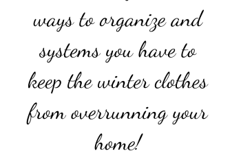 How do You Organize Your Winter Clothes and Accessories!?
