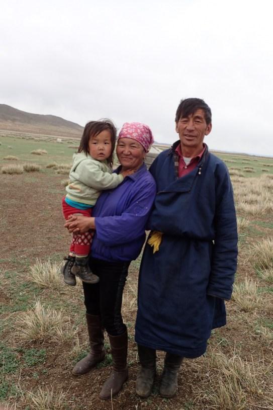 La famille de nomade qui nous a acceuilli