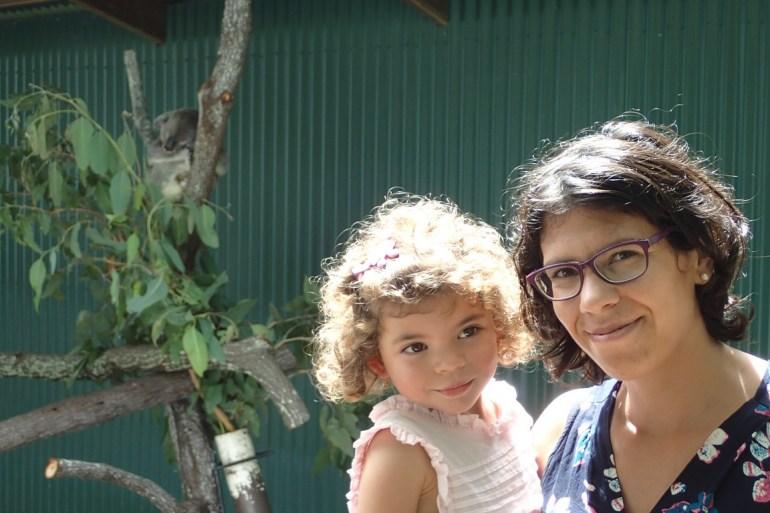 Lylou, maman, et koala