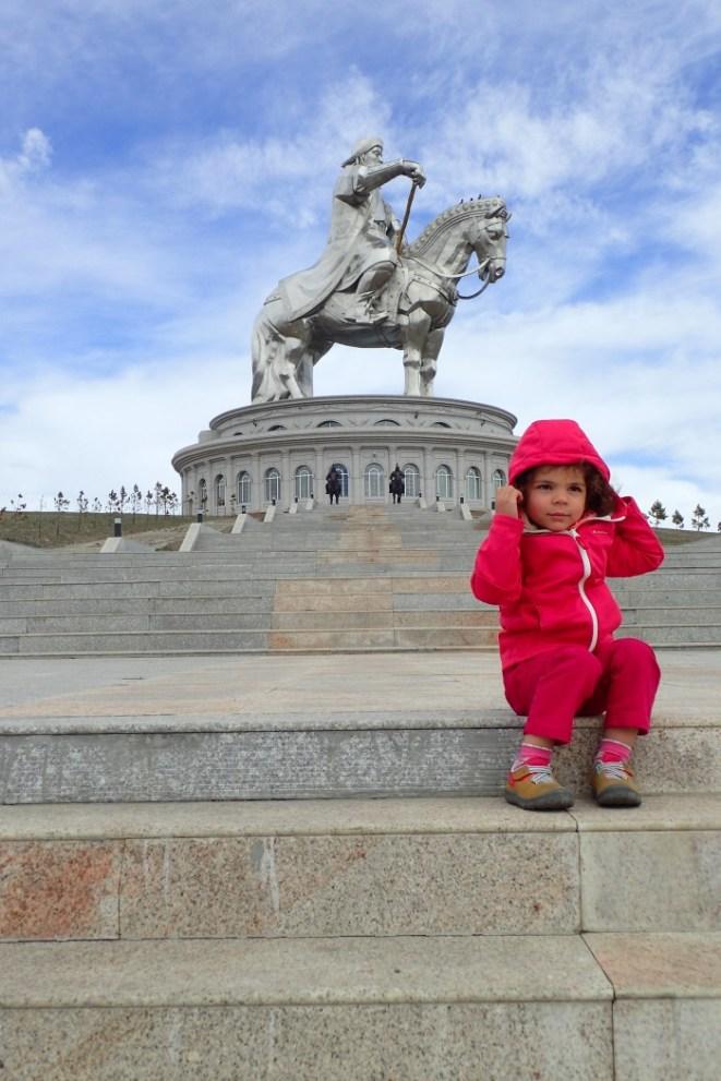 Imposante statue de Gengis Khan