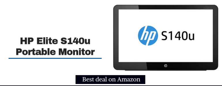 HP Elite S140u display 14-inch USB Portable Monitor