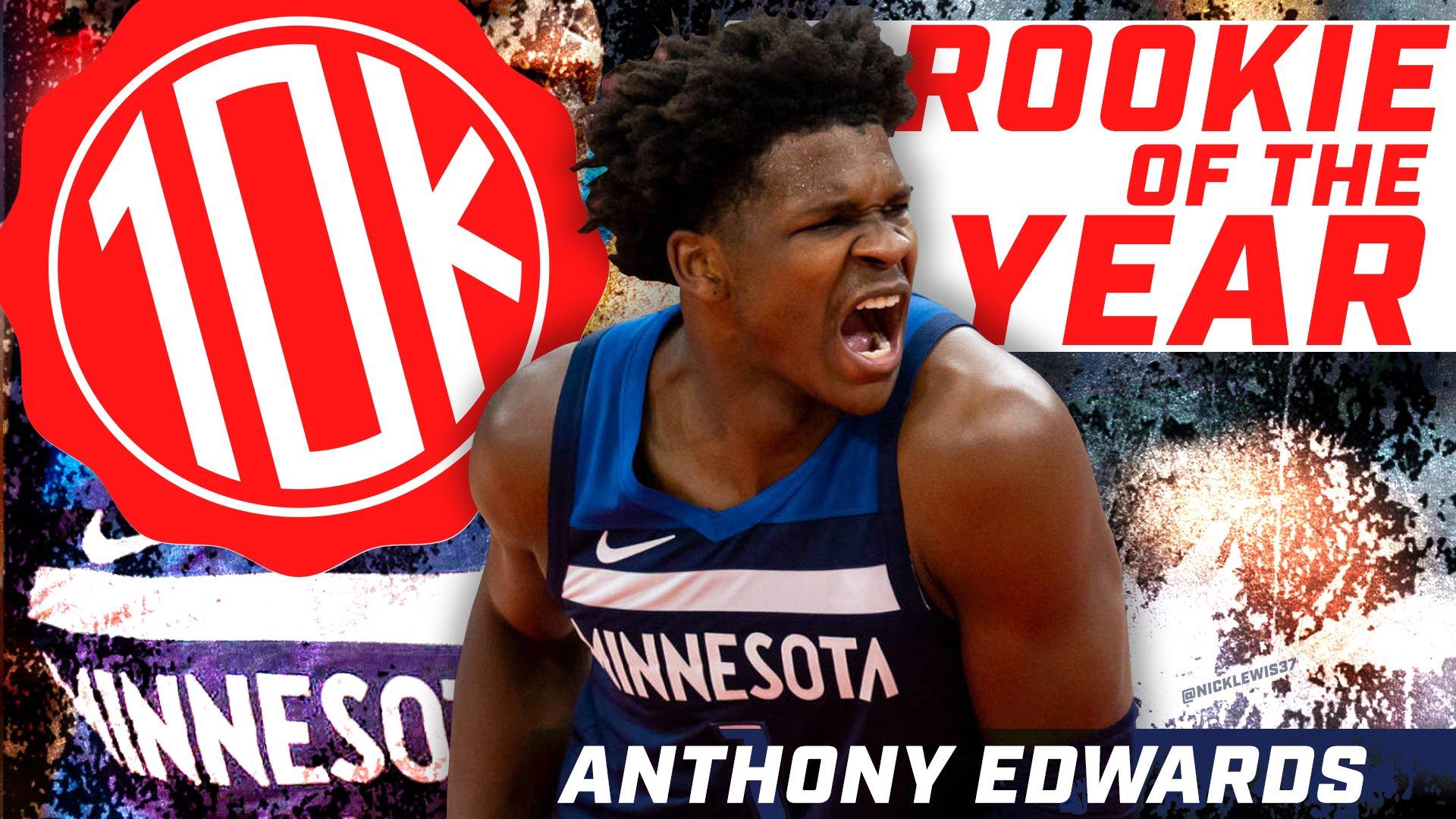 Anthony Edwards ROY 10K NBA Rookie of the Year