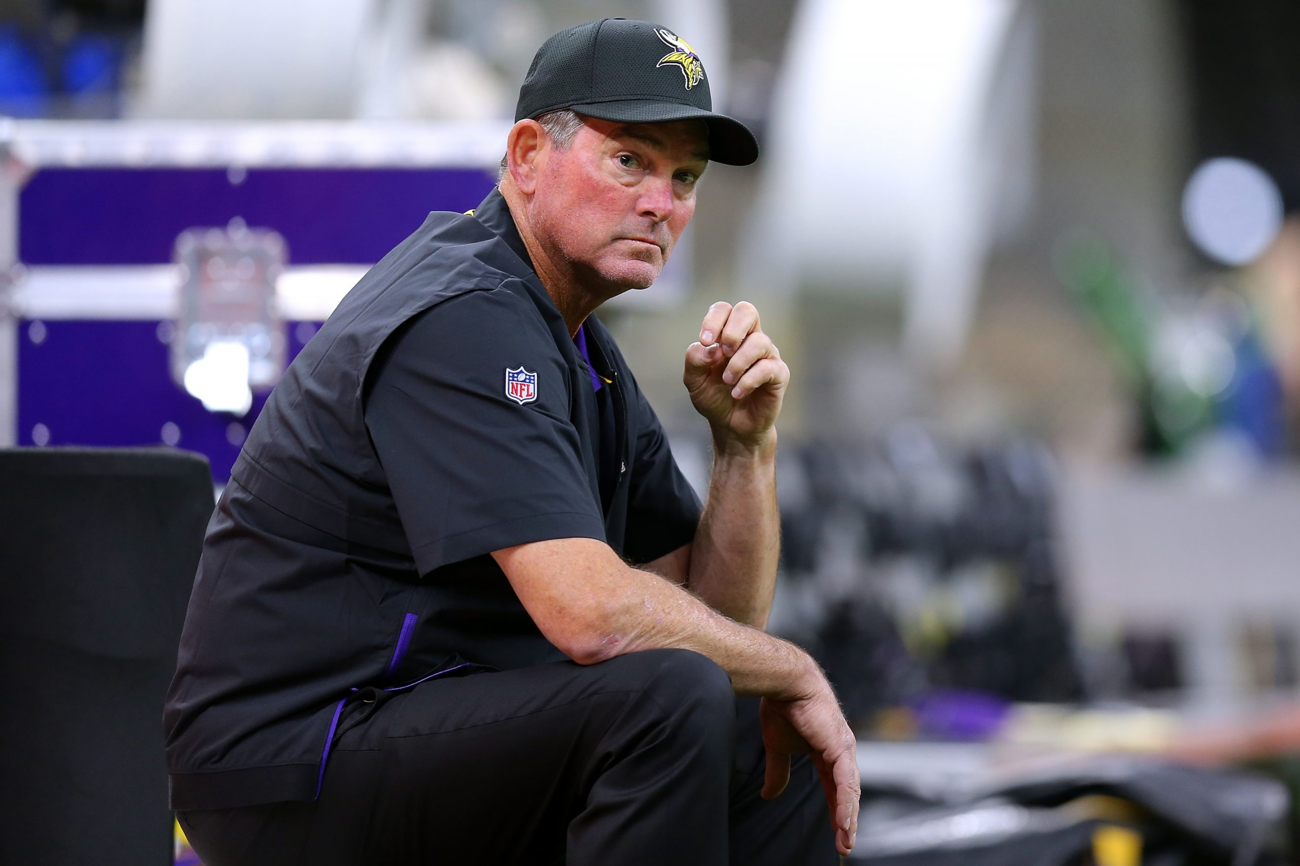 Mike Zimmer sitting