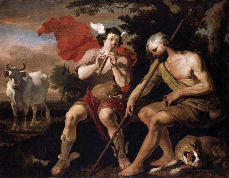 Mercury and Argos, Abraham Danielsz Hondius