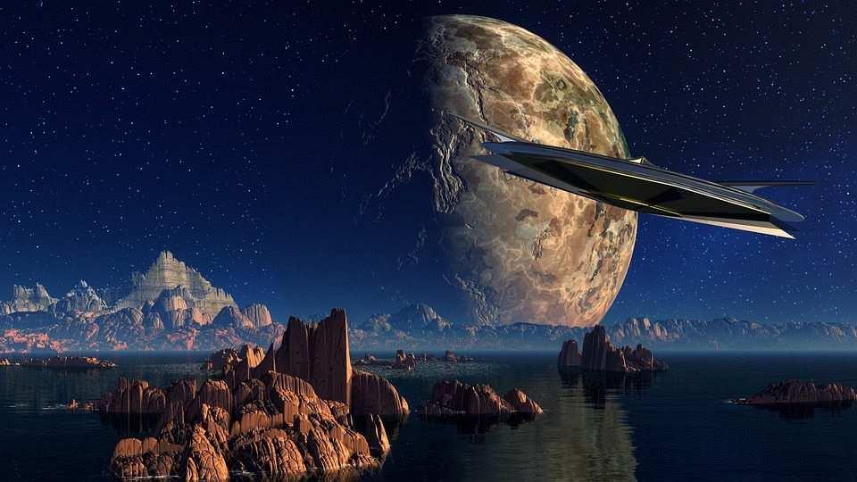 uzay ve dünya film karesi
