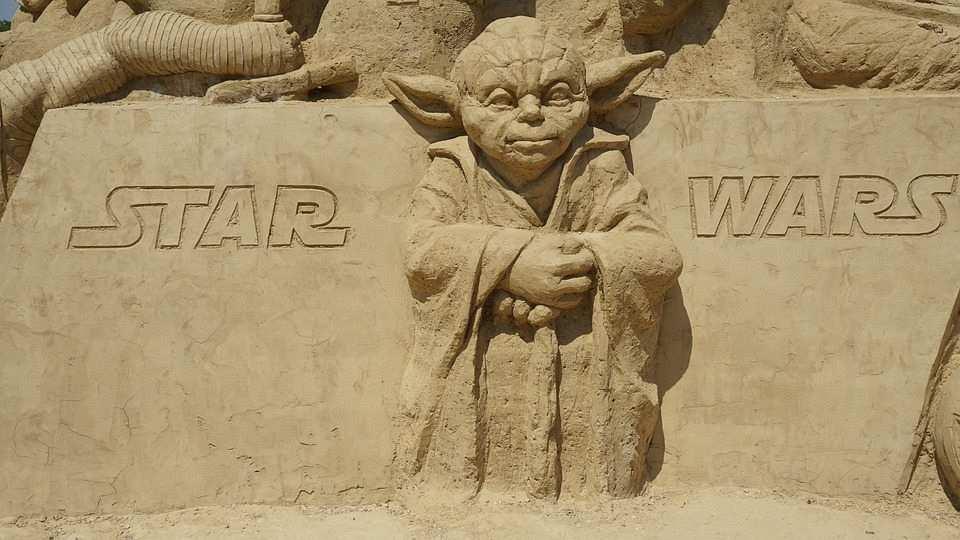 yoda on sand