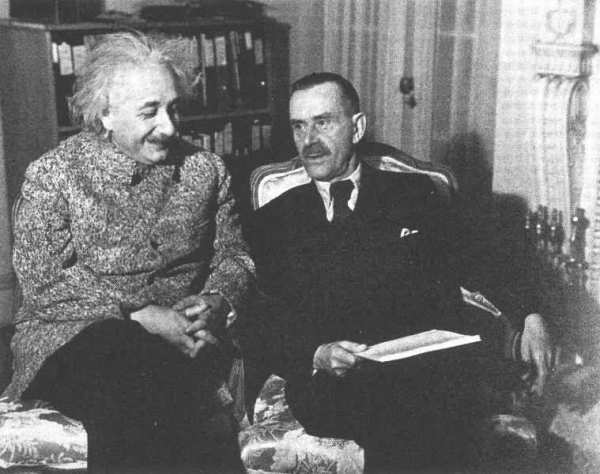 thomas mann ve Einstein