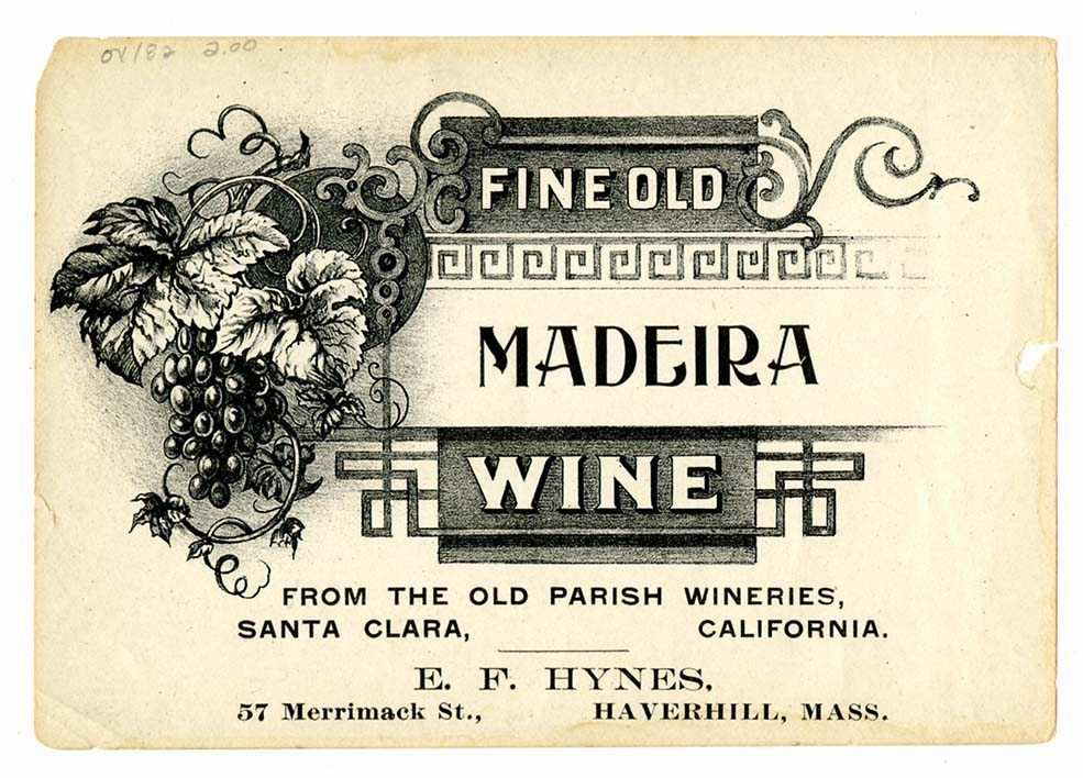 madeira şarabı eski etiket