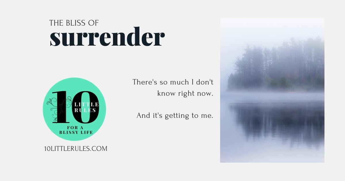 The bliss of surrender