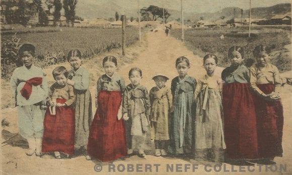 Korean children circa 1905 (Robert Neff Collection)
