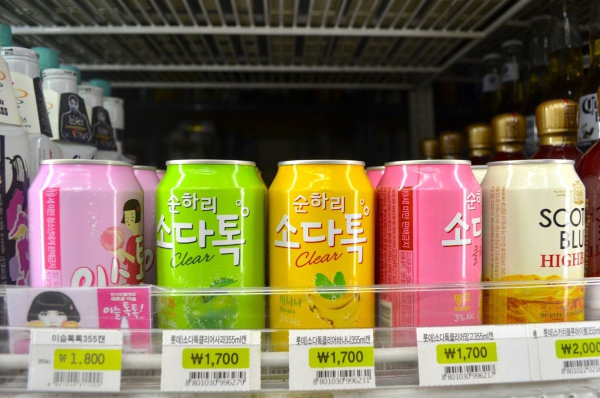 korean convenience stores soda tok