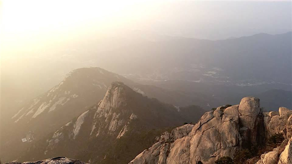 View from the Baegundae Peak of Mt. Bukhansan