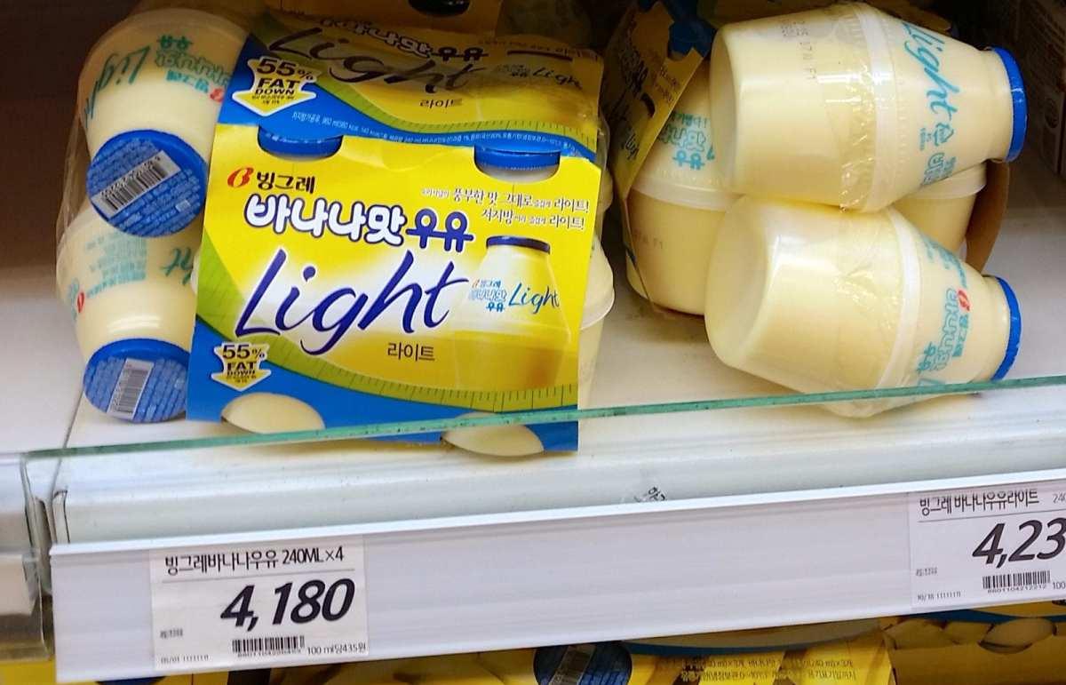 groceries in korea banana milk