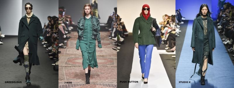 hottest fashion trends from seoul fashion week emerald green