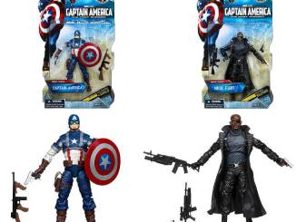 6 inch Captain America and 6 inch Nick Fury movie versions