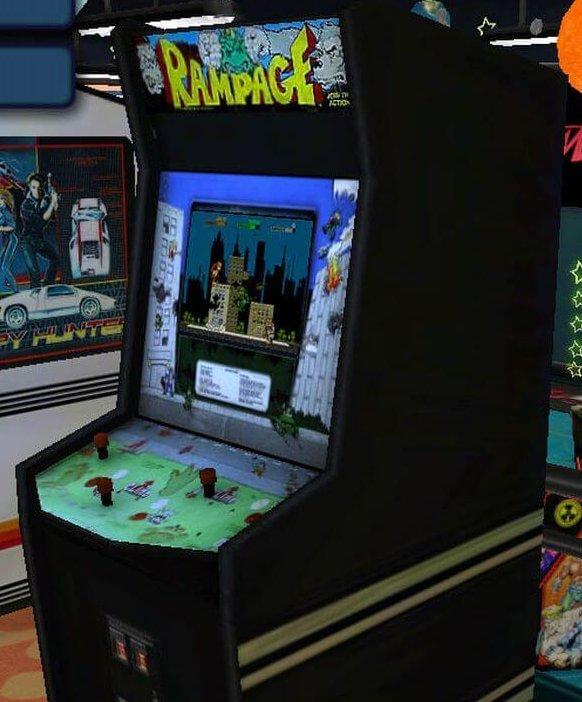 Rampage Arcade Game Cabinet