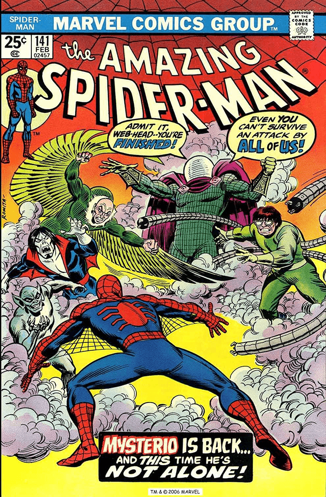 Amazing Spider-man cover Mysterio