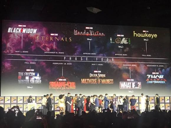 Marvel Phase 4 Plans SDCC Panel 2019 Hall H