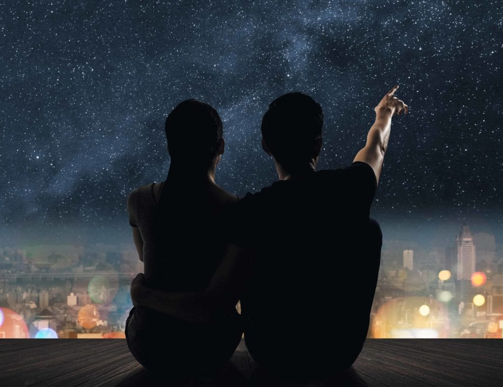 On Fire! 10ma Is Revised $1.88 Epc On Email Lists & 4.7% Conversions  Image of couple looking at the stars