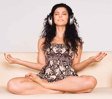 On Fire! 10ma Is Revised $1.88 Epc On Email Lists & 4.7% Conversions  Image of woman meditating with headphones 2