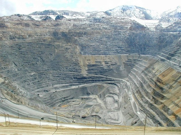 Most Incredible Open-Pit Mines: Bingham Canyon Mine (source: wiki)