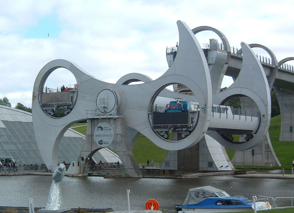 The Falkirk Wheel - an elevator ride for boats