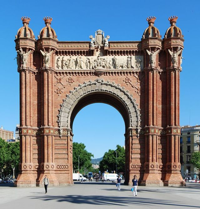 Most Famous Man-Made Arches: Arc de Triomf, Barcelona