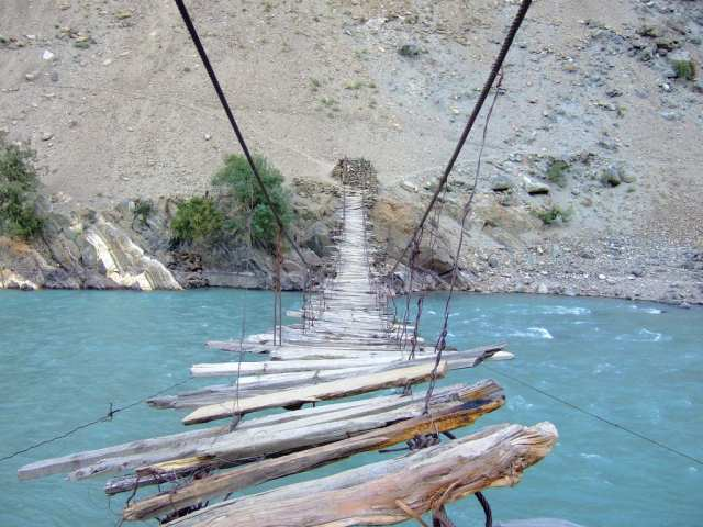 Scariest Rope Bridges In The World: Rope Bridge In Astore Valley, Pakistan