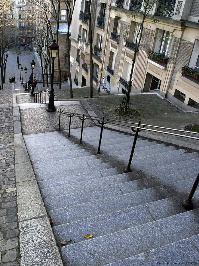 Staircases Worth The Climb: Rue Foyatier stairway to Montmarte, Paris, France