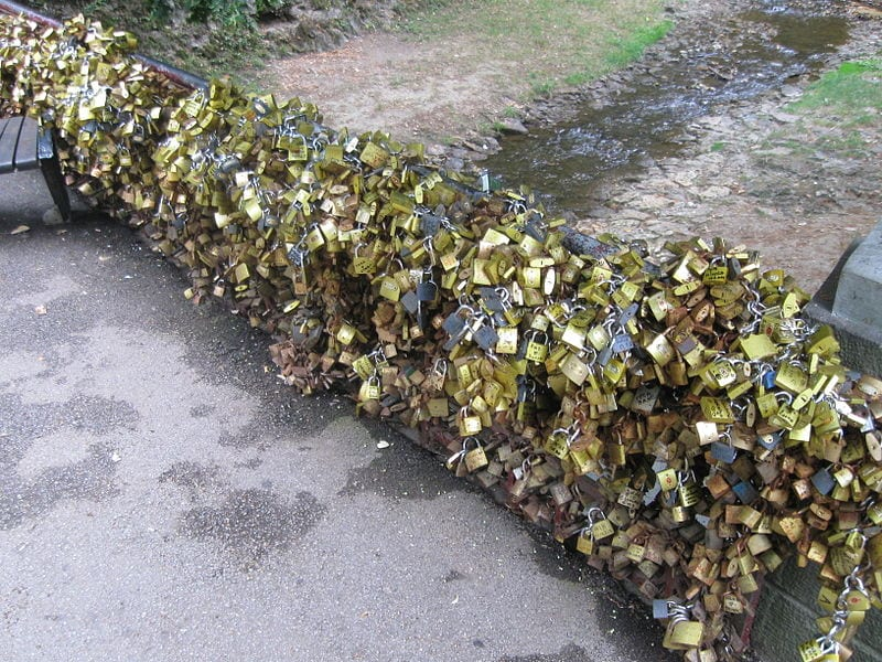 Awesome Love Locks Locations: Most Ljubavi, Vrnjačka Banja, Serbia
