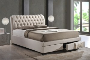 Baxton Studio Ainge Contemporary Button-Tufted Fabric Upholstered Storage Bed review