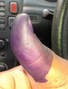 """Leave that good """"yes"""" purple under the nail so they know its real"""