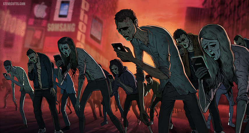 Steve-Cutts-Social-Media-Zombies