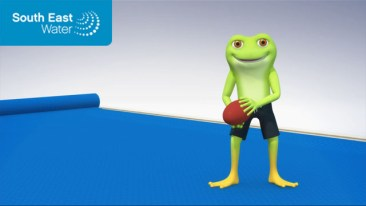 South East Water Animated Frog