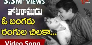 O Bangaru Rangula Chilaka Song Lyrics