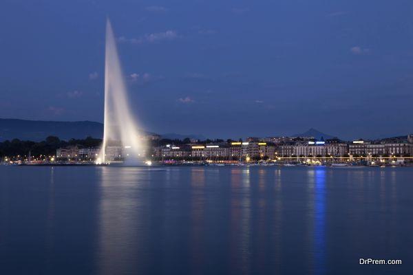 Jet d' Eau Fountain