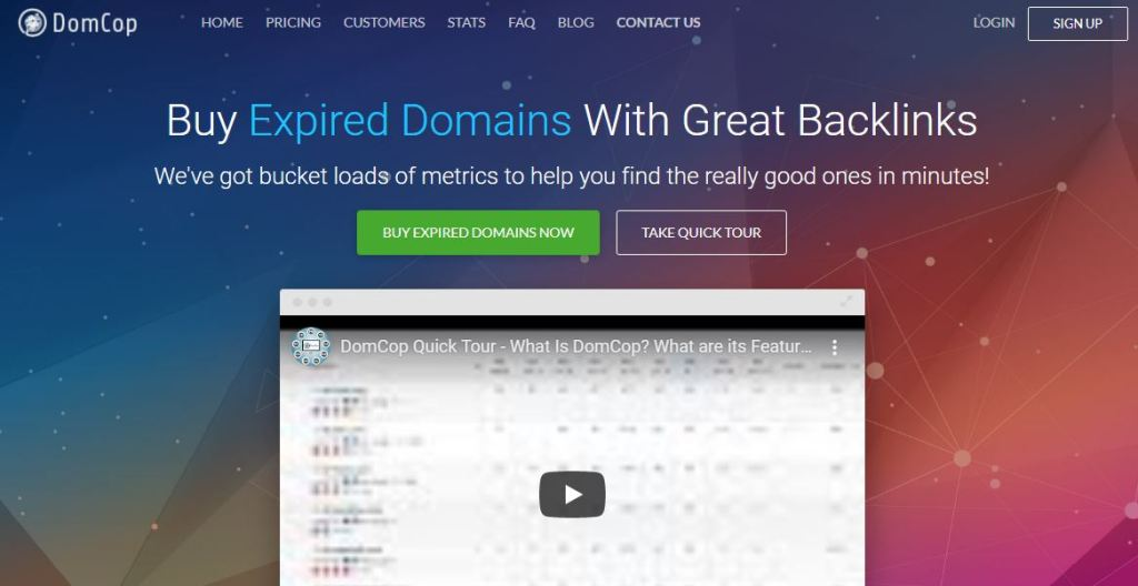 expired domains for sale by domcop