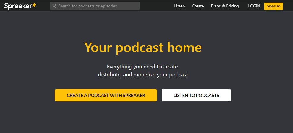 spreaker podcast