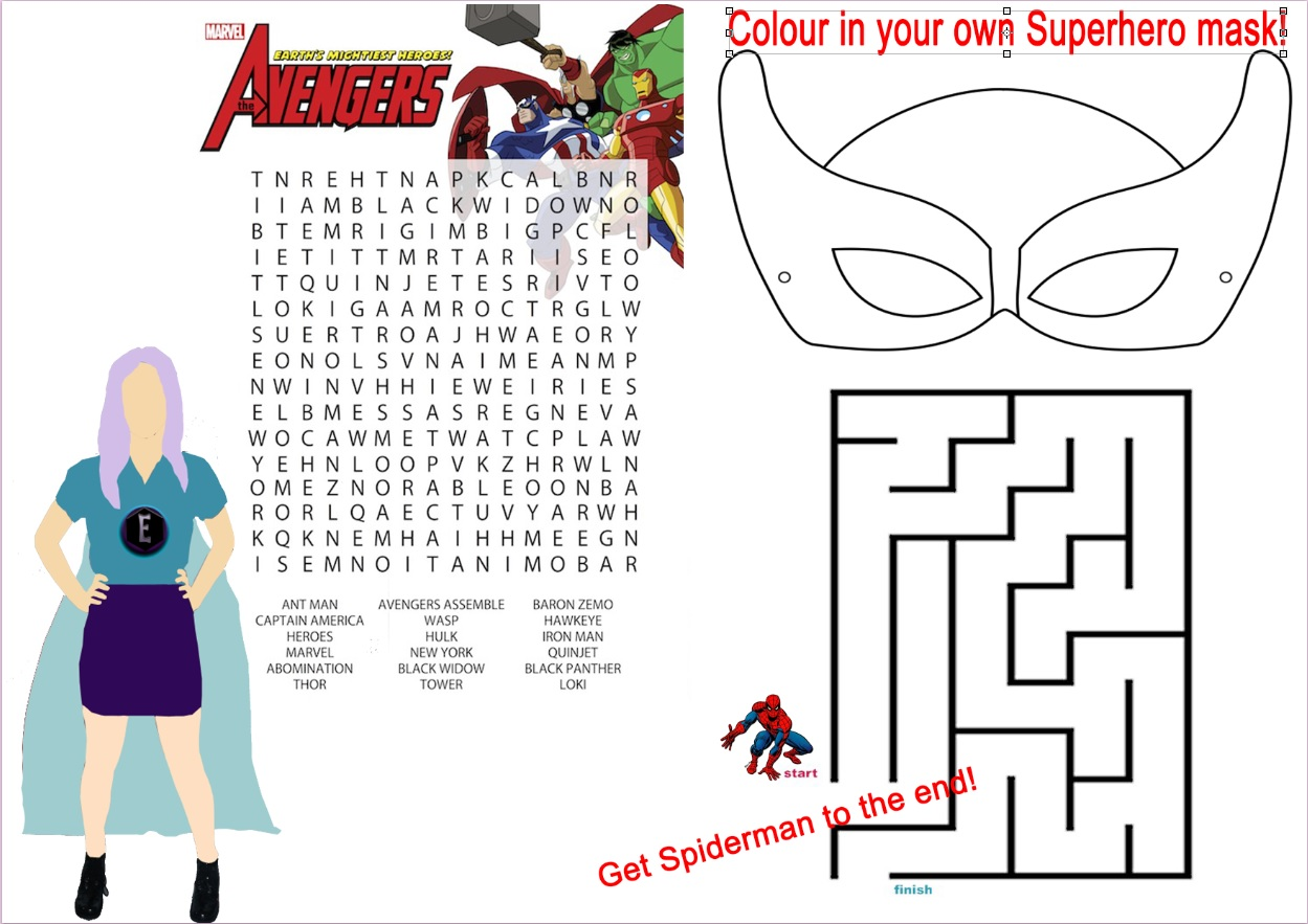 My Superhero Worksheet