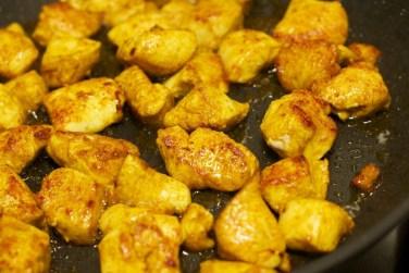 Gele curry met groene groente 33