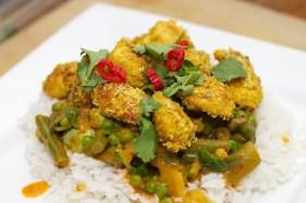 Gele curry met groene groente 42