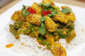 Gele curry met groene groente 43