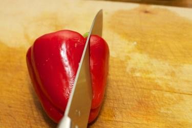 Paprika fijn snijden 1