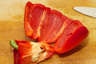 Paprika fijn snijden 2
