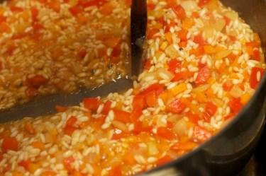Risotto met Chipolata en veel groente 17