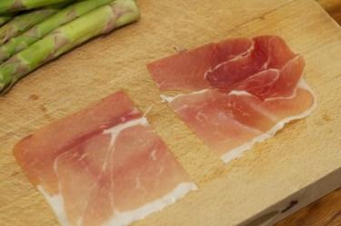 Spinazie risotto met asperges gewikkeld in Seranoham 5