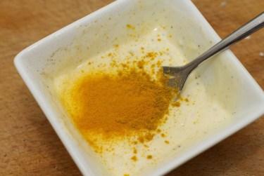 Stokbrood met kip en gele curry 16