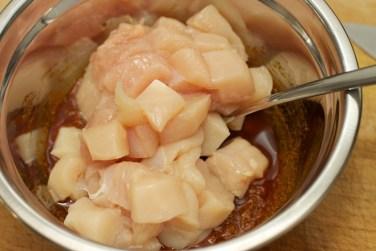 Stokbrood met kip en gele curry 8