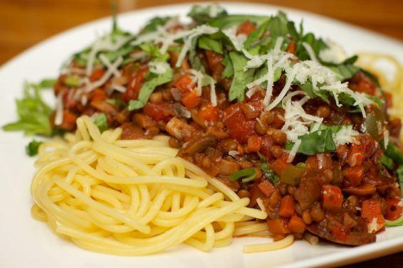 Pasta met vegetarische Ragu 51