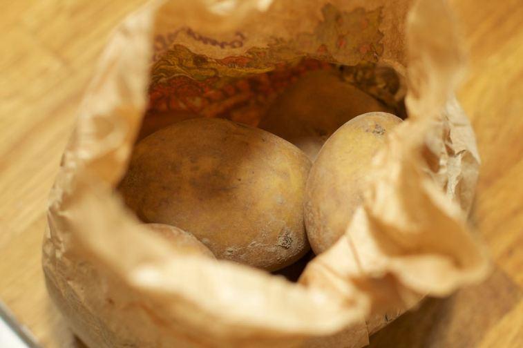 Platgeslagen aardappel 1
